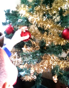 Dressing the Christmas tree